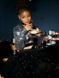 Halle Bailey is our new Ariel! Don't know too much about her, well here are the four big facts you need to know about her and her role as Ariel in The Little Mermaid! Black Girl Magic, Black Girls, New Little Mermaid, Chloe Halle, Ariel, Grown Ish, Bombshell Beauty, Mature Fashion, Black Couples