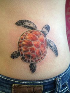 Turtle tattoo from Boston Stingray tattoo shop, Aaron Girard