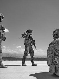 My best friend training in Afghanistan. One badass crew chief