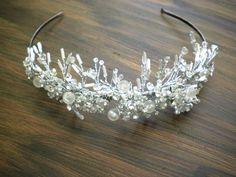 Bride's Wedding Tiara In Swarvoski Crystals - 'Ice Maiden'. $75.00, via Etsy.