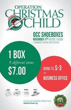 MVCS Operation Christmas Child
