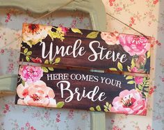 Here comes the bride sign Last Chance to Run by SugarPrintFairy