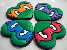 ninja turtle cookie ideas | ninja turtle cookies | Kid Party Ideas