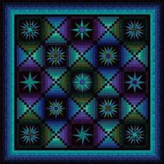 Moonglow--Originally created as a block-of-the-month quilt 10 years ago, it is designed as a teaching pattern for beginning to intermediate level quilters. Compass blocks alternate with luminously shaded log cabin blocks.  Each of the blocks has been selected to teach a variety of skills, beginning with the easiest block and ending with the most difficult.   The pattern is a FREE download!!!  http://www.jinnybeyer.com/ax_commerce/detail.cfm?productID=ECD48B75DDF45BC664C710D36E84D4AE