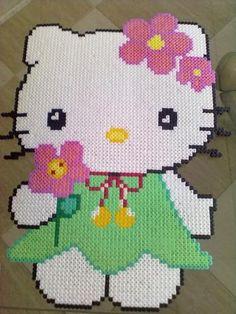 Hello Kitty hama beads by  sonimirimano