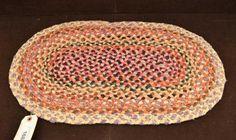 Small Folk Art Braided Silk Rug