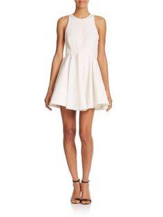 ALICE AND OLIVIA Fran Fit & Flare Dress. #aliceandolivia #cloth #dress