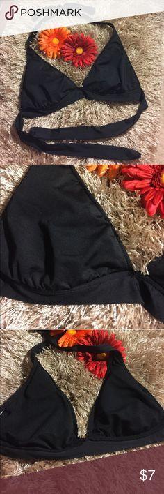 🔥❤️2️⃣For $🔟❤️ Black halter swim top NWOT Swim Bikinis