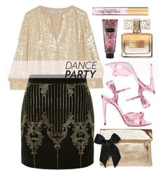 """Dance Party!"" by alaria ❤ liked on Polyvore featuring Gucci, Elizabeth and James, Clare V., Balmain, Victoria's Secret, Givenchy and danceparty"