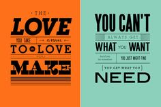 Inspirational font posters by Graphic Hug