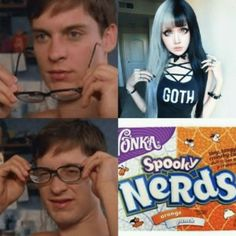 goths be like Goth Memes, Stupid Memes, Edgy Memes, Dankest Memes, Jokes, Funny Images, Funny Pictures, Fresh Memes, Really Funny Memes