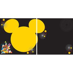 Disney's Mickey Mouse & Friends Thermography Character 12 x 12 Double-Sided Scrapbook Paper by EK Success