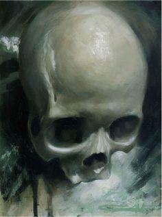 ' Simplicity ' by Jeff Gogue Jeff Gogue, Crane, Skull Tattoos, Various Artists, Artsy Fartsy, Still Life, Skulls, Artwork, Tattoo Ideas