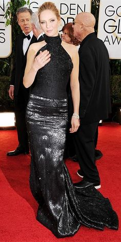 Red Carpet Arrivals 2014 - Uma Thurman from #InStyle