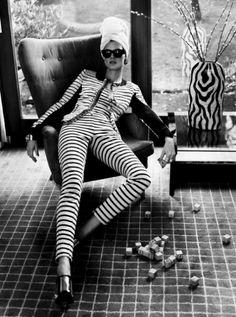 black and white - stripes