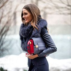 Loving everything about this! The fur and the bag especially