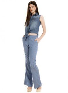calca flare cintura alta wisla jeans plaquinha look completo