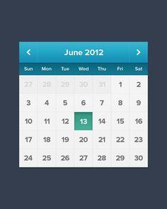 Calendar ( #PSD ) by Alexander Zaytsev, on dribbble.