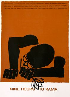 Saul Bass movie poster for Nine Hours to Rama