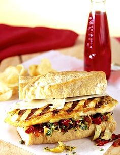 Chicken Muffuletta Sandwiches with Olive Spread (using chicken breasts), Sandwiches Chicken Sandwich Recipes, Easy Chicken Recipes, Recipe Chicken, Muffuletta Sandwich, Olive Spread, Chicken Curry Salad, Crock Pot Cooking, Slow Cooker Chicken, How To Cook Chicken