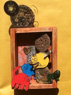 Almost A Cat Lady - Mixed Media Shadow Box (Photo Credit: Copper Lizard Studio)