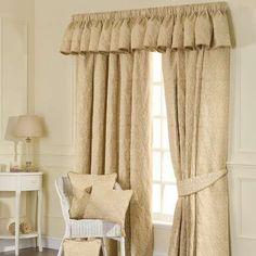 Kensington Gold Lined Pencil Pleat Curtains | Dunelm