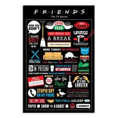 iPosters.co.uk: Friends TV Show Infographic Poster
