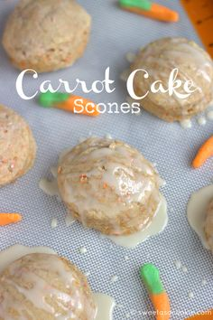 Carrot Cake Scones via Sweet as a Cookie