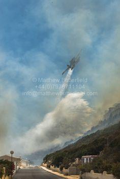 Fire at Cumbre del sol in Benitachell