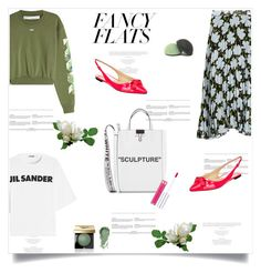 """""""Magic Slippers: Fancy Flats"""" by lidia-solymosi ❤ liked on Polyvore featuring Off-White, Jil Sander, Bobbi Brown Cosmetics, Anastasia Beverly Hills, Jimmy Choo and fancyflats"""