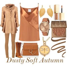 Dusty Soft Autumn by prettyyourworld on Polyvore featuring WithChic, Dion Lee, AG Adriano Goldschmied, Prada, Chloé, Temple St. Clair, Peermont, Komono, tarte and Stila