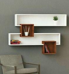 floating shelves with lights Home Decor Shelves, Wall Shelf Decor, Wall Shelves Design, Home Decor Furniture, Furniture Projects, Diy Home Decor, Furniture Design, Room Decor, Diy Casa