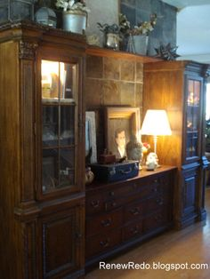 Diy Entertainment Center Using A Dresser Two Tall Cabinets Gives Me Ideas
