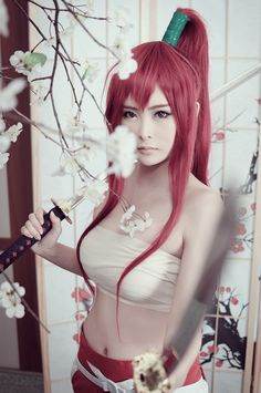 Fairy Tail Erza cosplay.