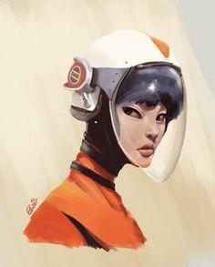 Izumi Tanaka, Space Flight Engineer, Derek Blair on ArtStation at http://www.artstation.com/artwork/izumi-tanaka-space-flight-engineer