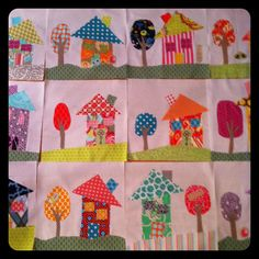 Material Girls Quilts: Wonky House Block Swap