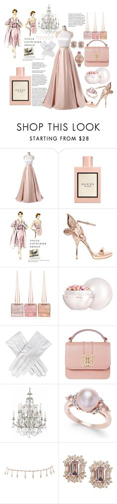 """haute couture 🌸"" by anoo17k ❤ liked on Polyvore featuring Gucci, Sophia Webster, Christian Louboutin, Guerlain, Black, Swarovski, Luv Aj and Olivia Burton"