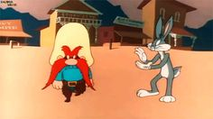 Love the old cartoons....Bugs just messed with Yosemite Sam's head because he could!