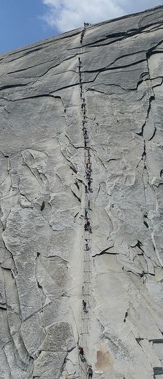 the cables on half dome, 400 feet of pain :) yosemite nati… Yosemite California, California Camping, California National Parks, Yosemite National Park, Landscape Photography, Nature Photography, Camping In England, Outdoor Camping, Camping Outdoors