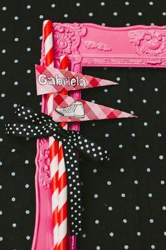 Tags para canudinhos do Aniversário da Gabriela!