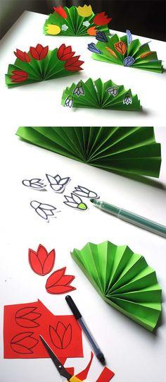 Katlama çiçek nasıl yapılır etkinlikleri çalışması ve katlama örnekleri yapımı, yapılışı web sitesi sayfası yapmak.