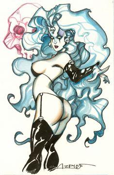 Lady Death by Alfonso Azpiri Comic Art