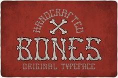 Bones Typeface by VintageMind on @creativemarket