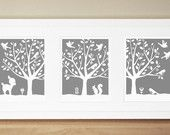 Nursery Art Prints - CUSTOM COLOR - Peaceful Tree Series (3) 8x10s. $55.00, via Etsy.