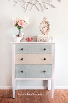Another inspiring idea to do to a little chest of drawers!