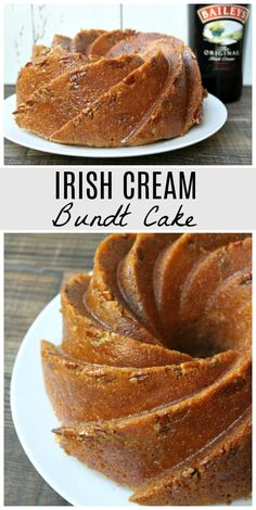 Here's an easy recipe for Irish Cream Bundt Cake made with Baileys Irish Cream liqueur. This is a delicious cake recipe to make for St. Food Cakes, Irish Cream Cake, Baileys Irish Cream Frosting Recipe, Irish Cream Drinks, Cake Recipes, Dessert Recipes, Bunt Cakes, Köstliche Desserts, Easy Irish Desserts