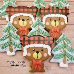 Christmas Cookies, Christmas Ornaments, Bear Cookies, Holiday Decor, Home Decor, Xmas Cookies, Christmas Ornament, Christmas Candy, Interior Design
