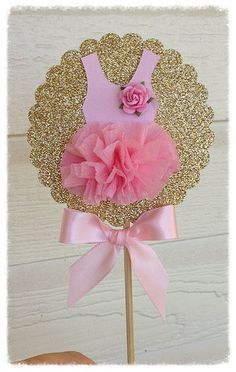 Birthday Decoration Shabby Chic Decorative Wand Ballet Party Cake Topper for Birthday Party Ballerina - Shopkins Party Ideas Ballerina Baby Showers, Ballerina Tutu, Baby Shower Princess, Ballet Tutu, Deco Baby Shower, Girl Shower, Baby Shower Cakes, Baby Party, Baby Shower Parties