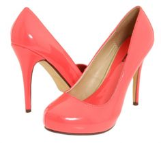 Michael Antonio - Loveme - Patent in Coral Coral High Heels, Pink Heels, Cute Shoes, Me Too Shoes, Awesome Shoes, Wedding Shoes, Wedding Pins, Wedding Stuff, Dream Wedding
