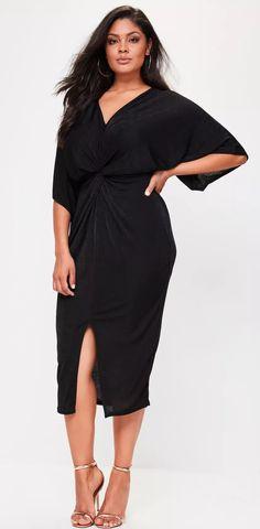 Plus Size Slinky Kimono Dress